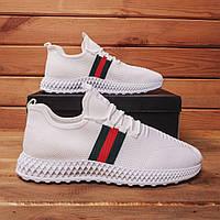 Мужские кроссовки Гуччи СОТ (Белые) 45