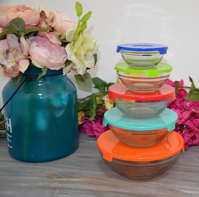 Набор емкостей для хранения продуктов, стекло (фото)