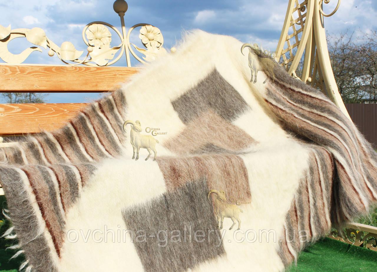 Лижник Карпатський плед з вовни кольорова Смужка