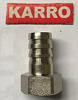 """Штуцер Karro 1/2"""" В х 20мм KR 821 (никель)"""