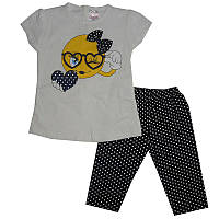 Костюм для девочки 68-86 арт.7023 футболка+лосины                                                   , фото 1