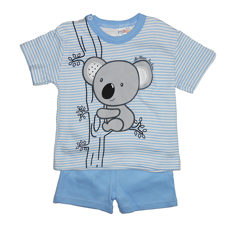 Костюм для мальчика 62-74 арт.1647 футболка+шорты