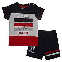 Костюм для мальчика 68-86 арт. 212377 футболка и шорты                                              , фото 1