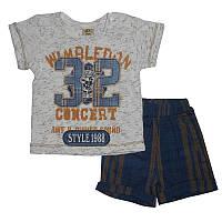 Костюм для мальчика 68-86 арт.214902 футболка и шорты                                               , фото 1