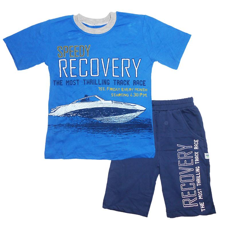 Костюм для мальчика трикотажный 6-8лет. (116-128) 405 футболка + шорты