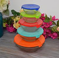 Скляні ємності для зберігання продуктів, набір 5 шт. (120,220,360,480,840 мл), фото 1