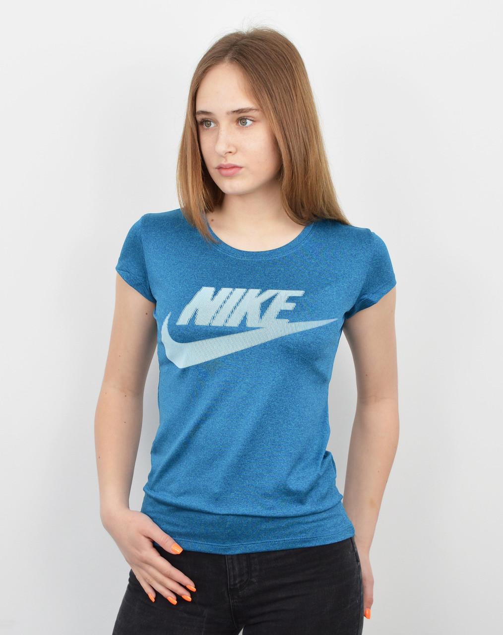 Спортивная женская футболка оптом V0220 голубой меланж