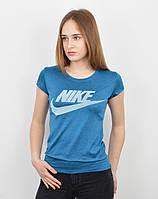 Спортивная женская футболка оптом V0220 голубой меланж, фото 1