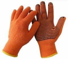 Перчатки WERK оранжевые черная точка ПВХ р.10 арт. WE2129