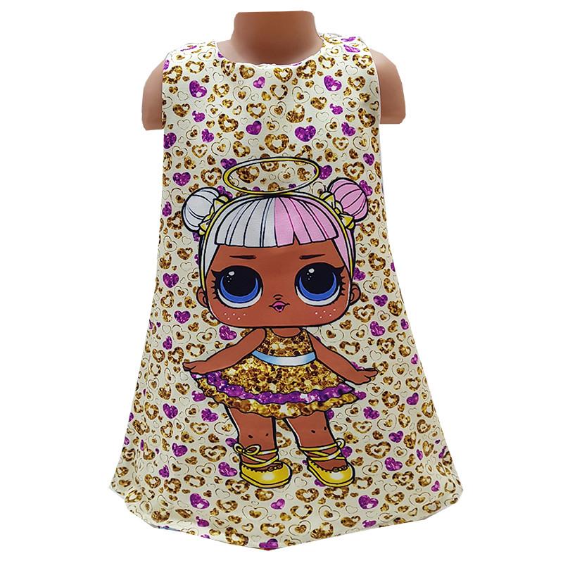 Платье с куклой LOL 104-122 (4-7 лет) арт.995