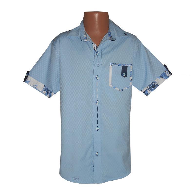 Рубашка с коротким рукавом на мальчика 9-12 лет(134-152) 1153