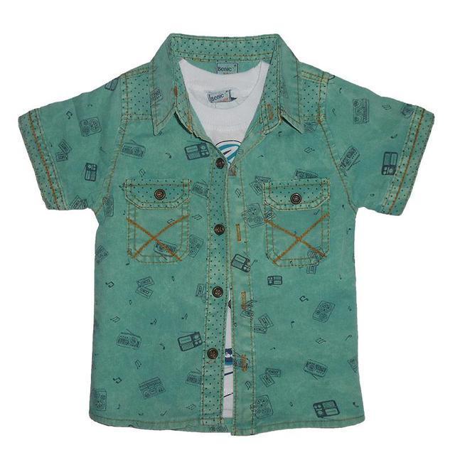 Рубашка с коротким рукавом на мальчика 1-4 года арт.545
