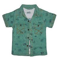 Рубашка с коротким рукавом на мальчика 1-4 года арт.545                                             , фото 1