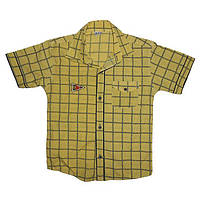 Рубашка мальчик 110-128 , 7012 клеточка                                                             , фото 1