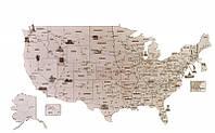 Карта США 1325*800 mm Деревянный 3D пазл Wood Trick (механический деревянный конструктор)