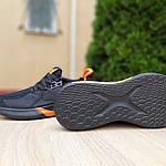 Мужские летние кроссовки Adidas (черно-оранжевые) 10149, фото 3