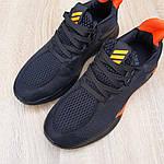 Мужские летние кроссовки Adidas (черно-оранжевые) 10149, фото 8