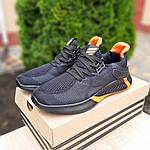 Мужские летние кроссовки Adidas (черно-оранжевые) 10149, фото 7