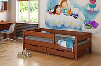 Детская подростковая кровать с выдвижными ящиками  LukDom Mix Темный орех 180х90