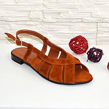 Босоножки замшевые женские Vasha Para 1351 36 цвет рыжий