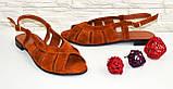 Босоножки замшевые женские Vasha Para 1351 36 цвет рыжий, фото 3