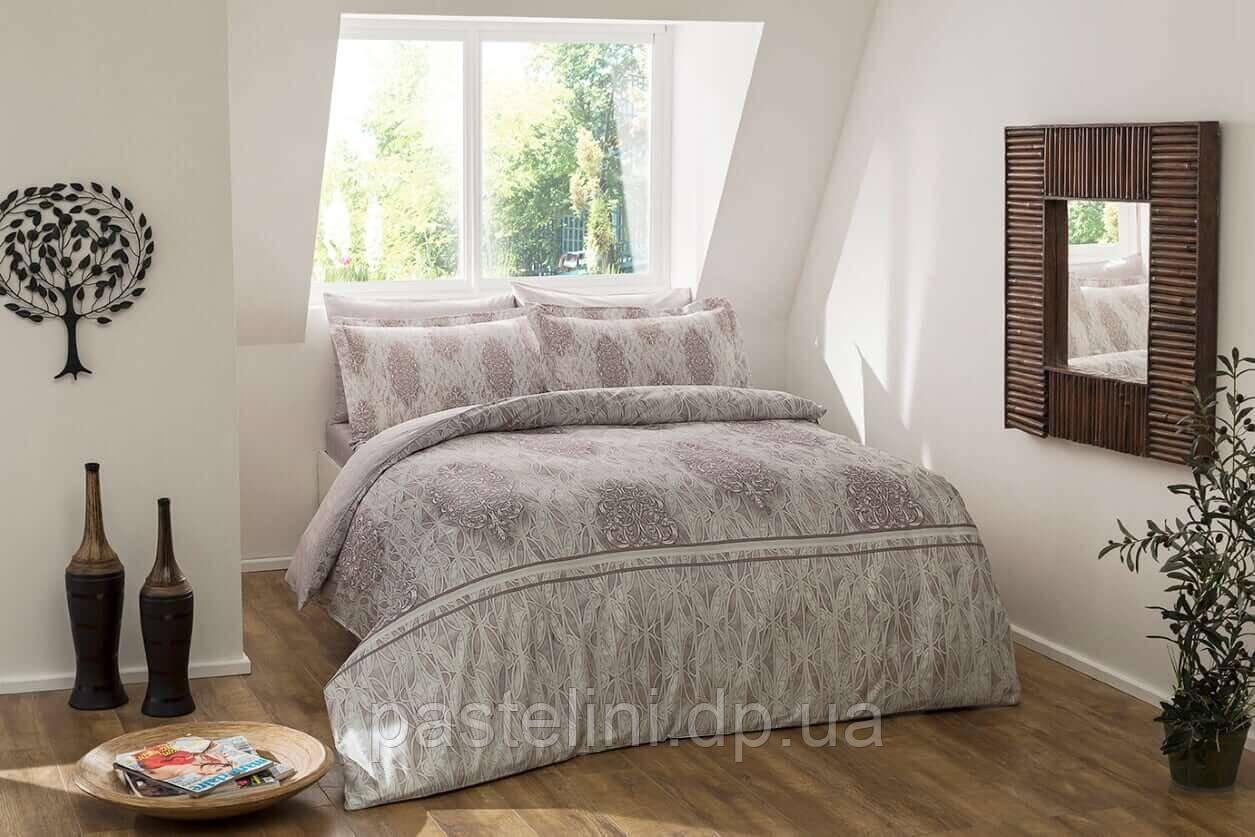 TAC Digital   Elise gri полуторное постельное белье