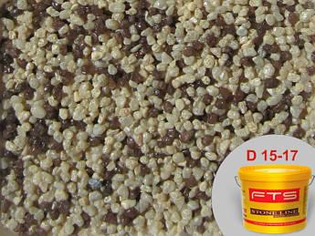 Декоративно-мозаичная штукатурка FTS 23 кг, D 15-17 декоративно-камешковая штуктурка. Байрамикс