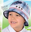 Детская летняя панамка для мальчика в клеточку (AJS, Польша), фото 5