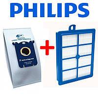 Фильтр и комплект мешков S-BAG для пылесоса Philips
