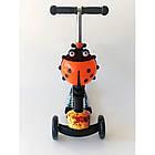 Самокат-беговел 2 в 1 Scooter Pro PP3 Божья Коровка | Оранжевый, фото 2