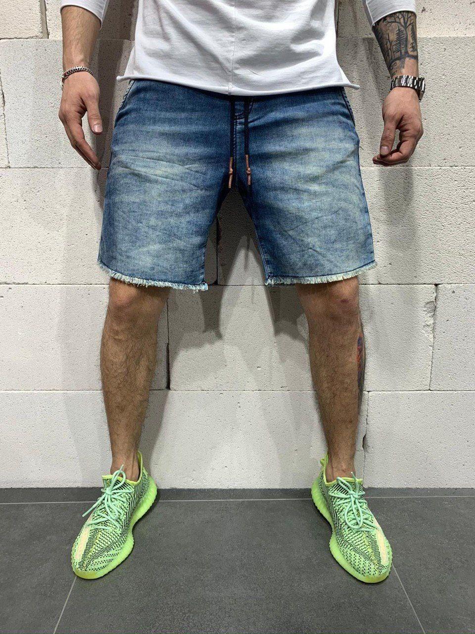 😜 Шорты - Мужские стильные голубые шорты