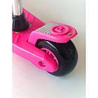 Самокат-беговел 2 в 1 Scooter Pro 028 с пропеллером | Розовый, фото 3