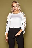 Блуза шёлковая женская белая