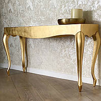 Оригинальный стол-консоль в золотом цвете Filipina