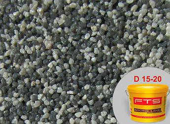 Гранитно-мраморная штукатурка FTS 23 кг, D 15-20 декоративно-камешковая штуктурка, Байрамикс