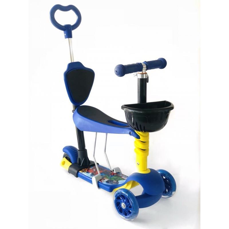 Самокат-беговел 5 в 1 Scooter Pro PH5 | Темно синий