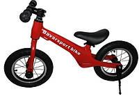 """Беговел(велобег) МОД(200)красный алюминиевый велосипед без педалей с карбоновыми колесами12"""" и ножным тормозом"""