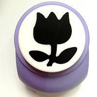 Дырокол фигурный Тюльпан 3,8 см кнопка