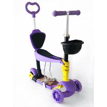 Самокат-беговел 5 в 1 Scooter Pro PH5 | Фіолетовий
