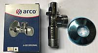 "Кран угловой подключение  Arco 1/2""х1/2""  F-80"