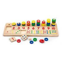 """Деревянная игрушка Viga Toys """"Цифры и счет"""" (59072)"""