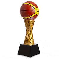 Статуетка (фігурка) нагородна спортивна Баскетбол Баскетбольний м'яч HX1422-B16 (р-р 8х8х27см)