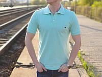 Мужская футболка поло Tommy Hilfiger Бірюзова