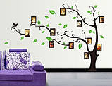 Декоративна наклейка Дерево з фоторамками (170х120см), фото 2