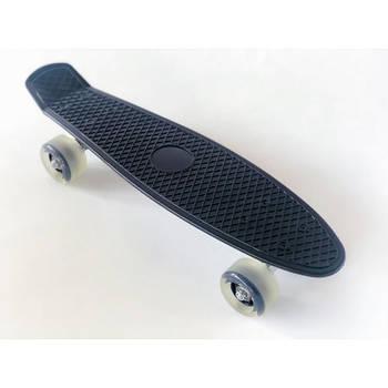 Пенни борд Penny Board 220 со светящимися колесами   Черный