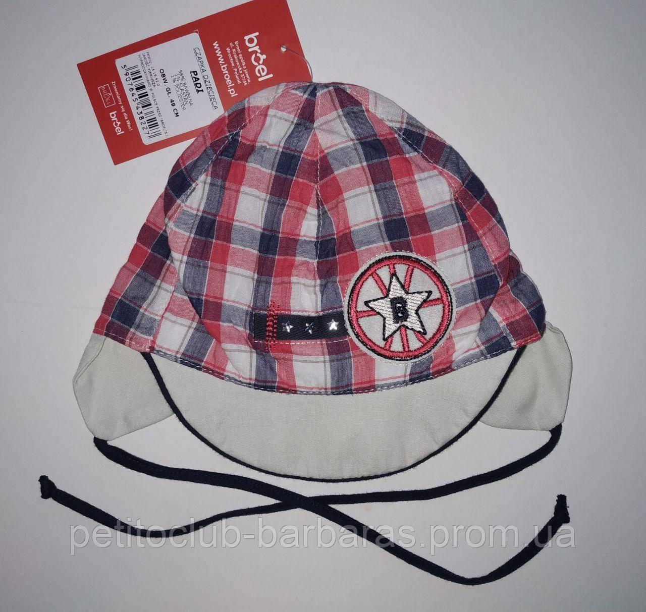 Детская летняя кепка на завязках Padi для мальчика (Broel, Польша)