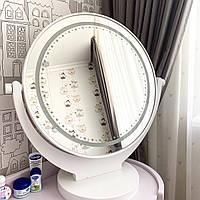 Настольное зеркало с подсветкой в белом цвете Light Jasmine