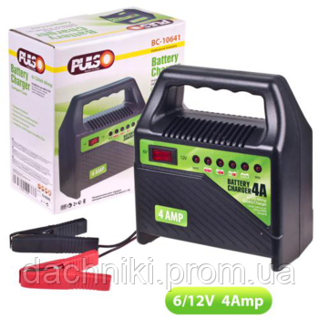 Зарядное устройство PULSO / 4A / 6В-12В / 10-60 A\ч / светодиодн.индик.