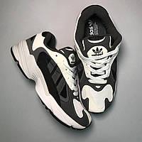 Женские кроссовки Adidas Yung 1 Grey White, Женские Адидас Янг 1 Серые
