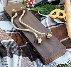 """Елітний подарунок для солідного чоловіка """"Переможець"""" з шампурами ручної роботи з мармуру, в кейсі з бука, фото 3"""